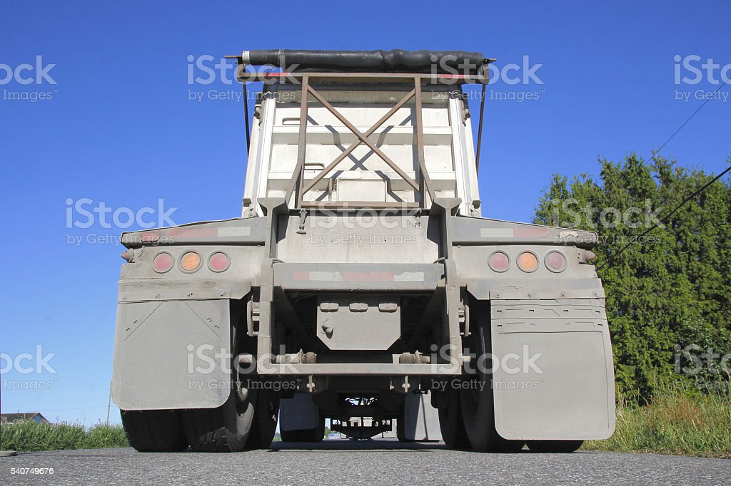 Behind a Dump Truck stock photo