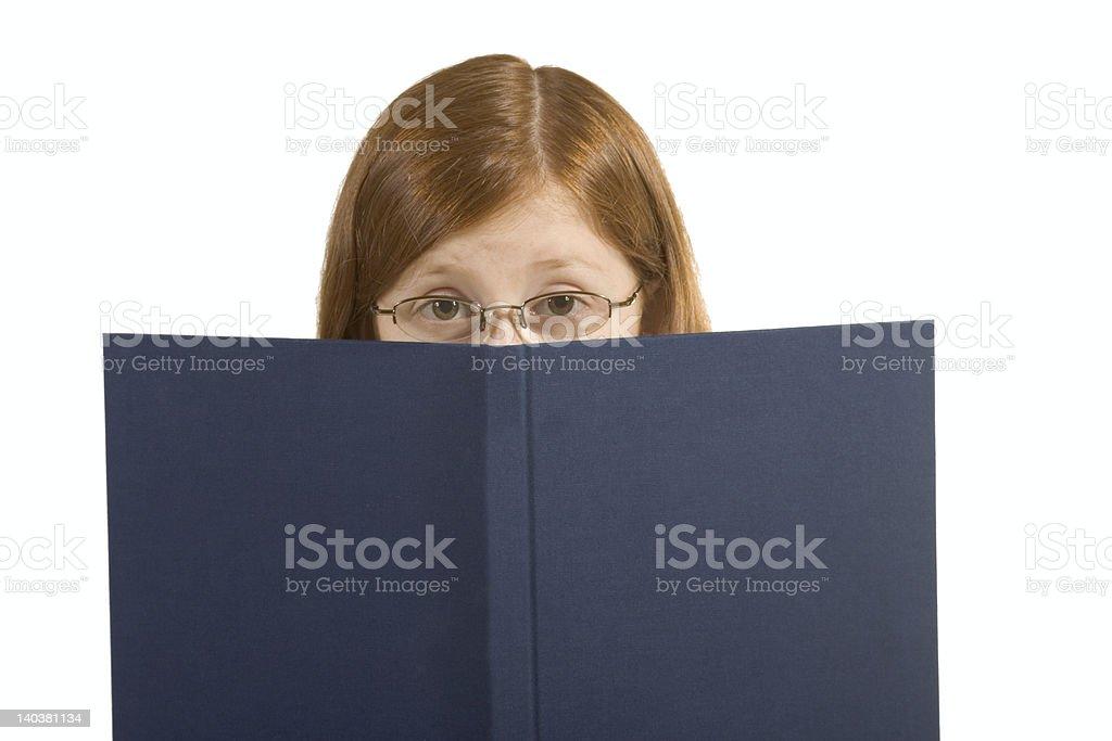 Behind book royalty-free stock photo