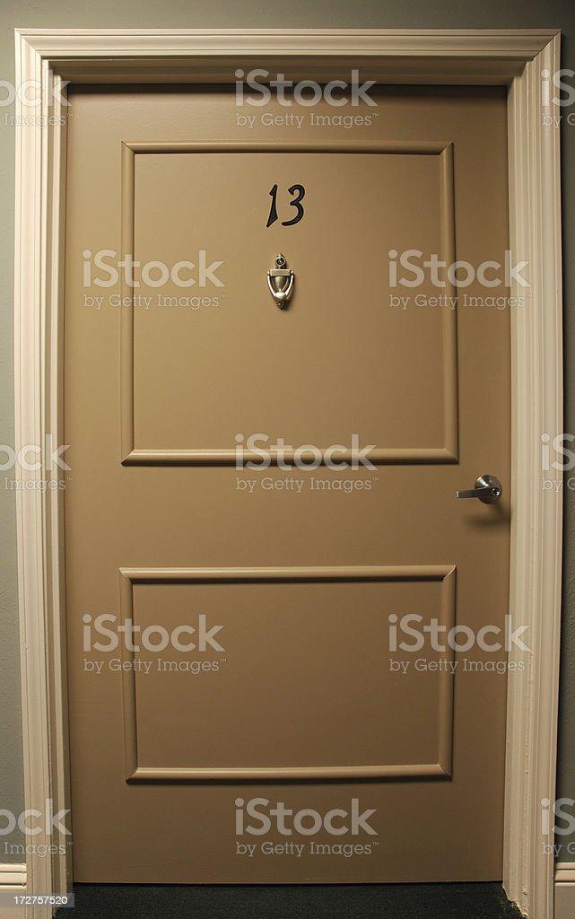 Behind Door 13 royalty-free stock photo