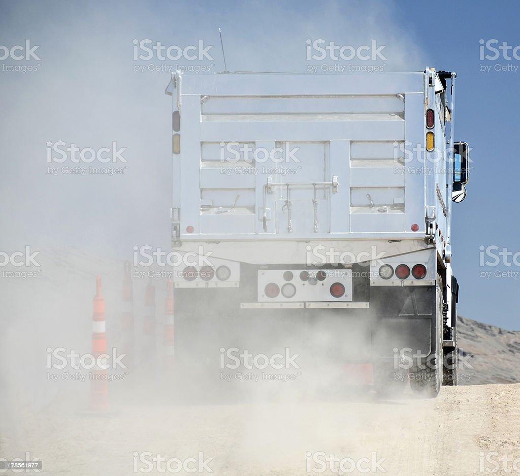 Behind dump truck stock photo