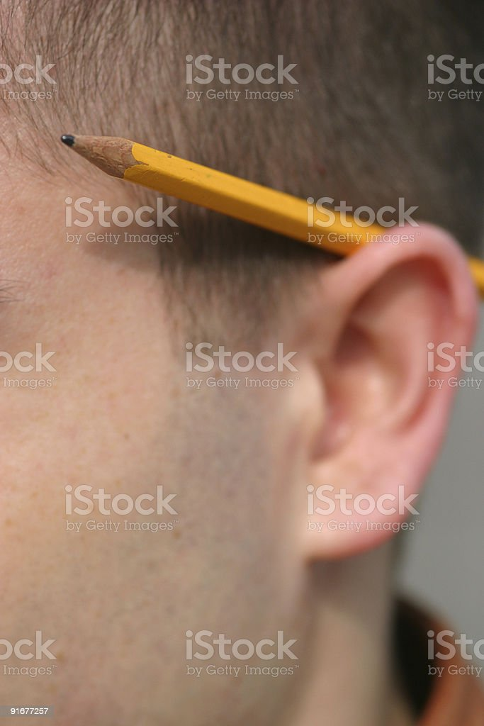 Behind ear royalty-free stock photo