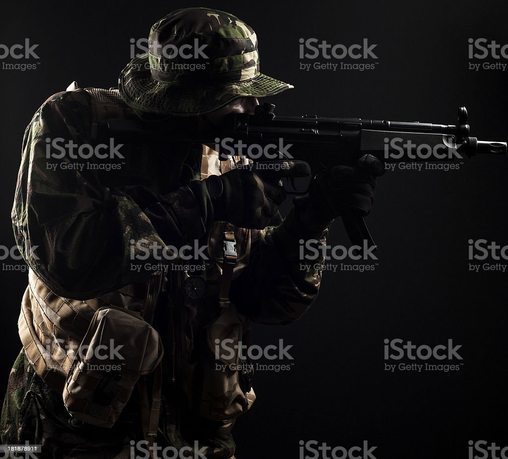 Behind enemy lines royalty-free stock photo