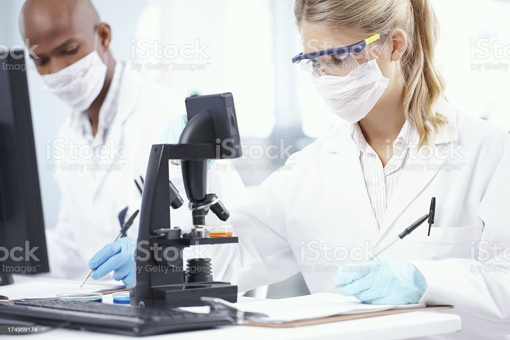Behind every succesful product is a good research team royalty-free stock photo