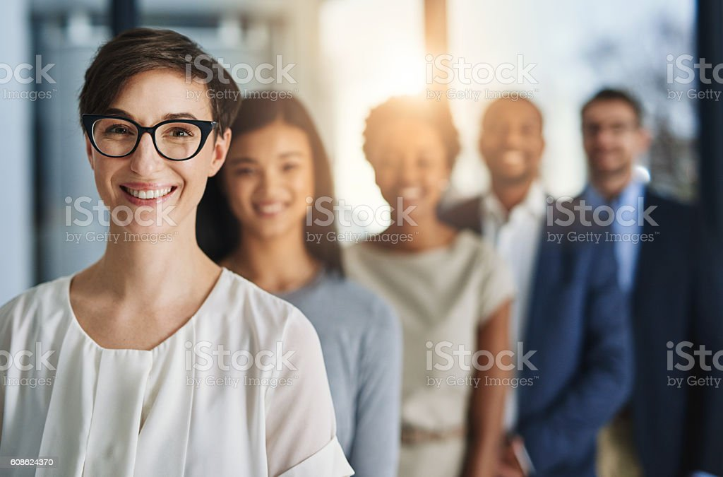 Behind every successful company are the people making it so stock photo