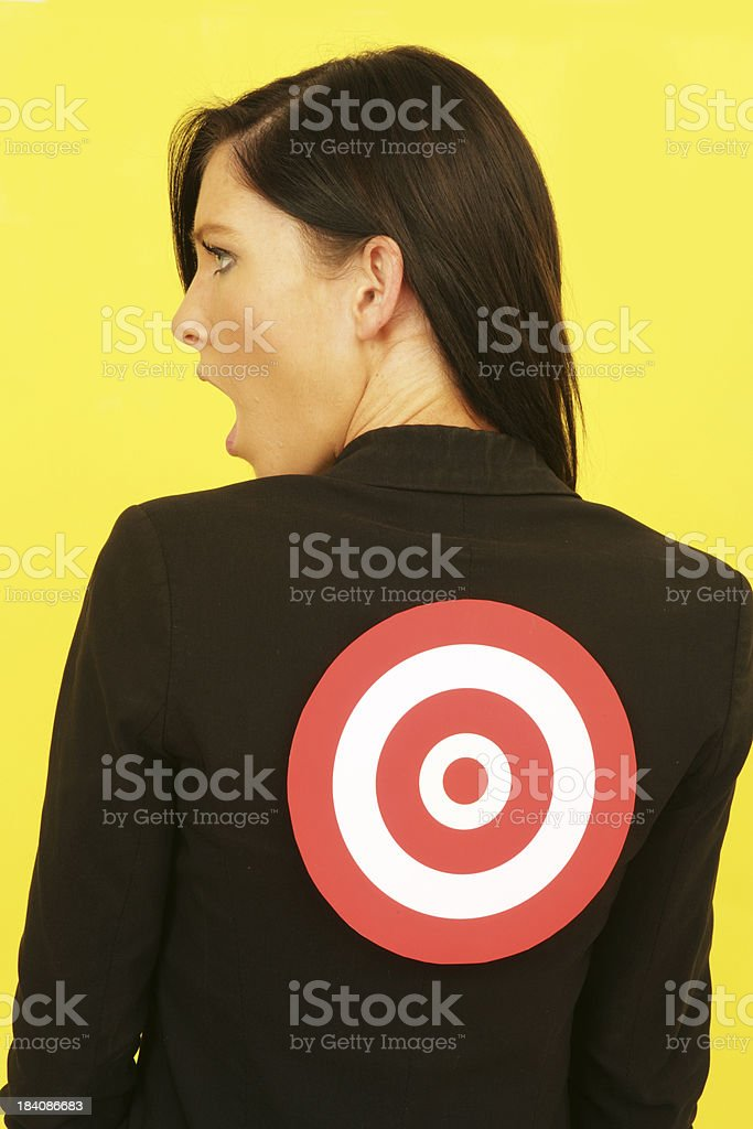 Behind her Back royalty-free stock photo