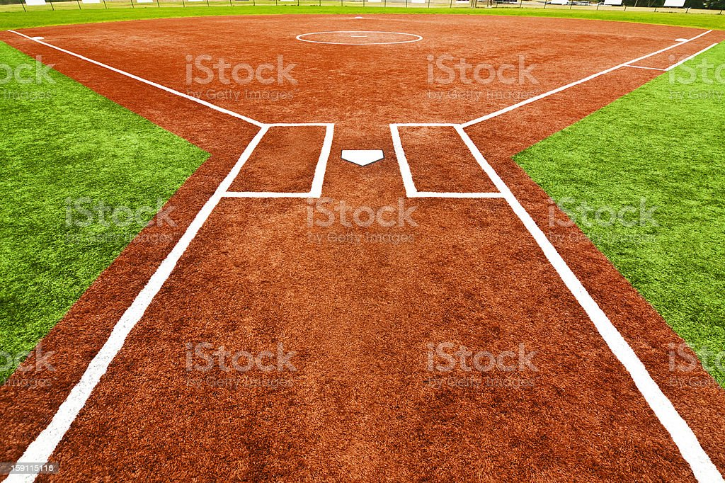 Behind Home Plate stock photo