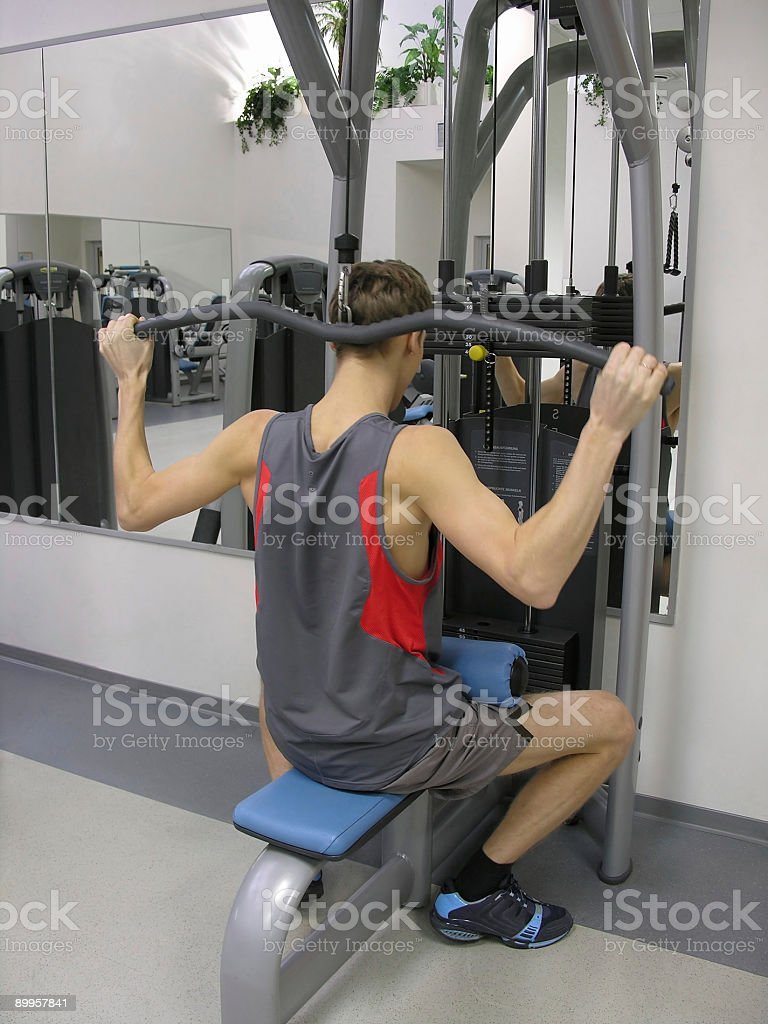 behind man in health club royalty-free stock photo