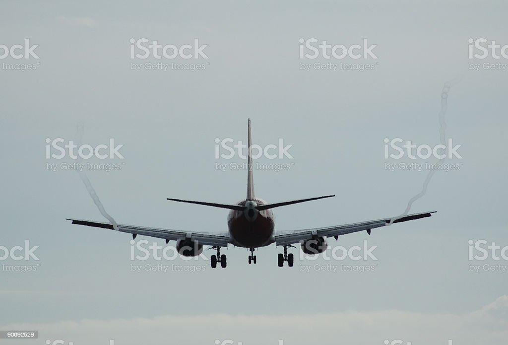 737 Behind stock photo
