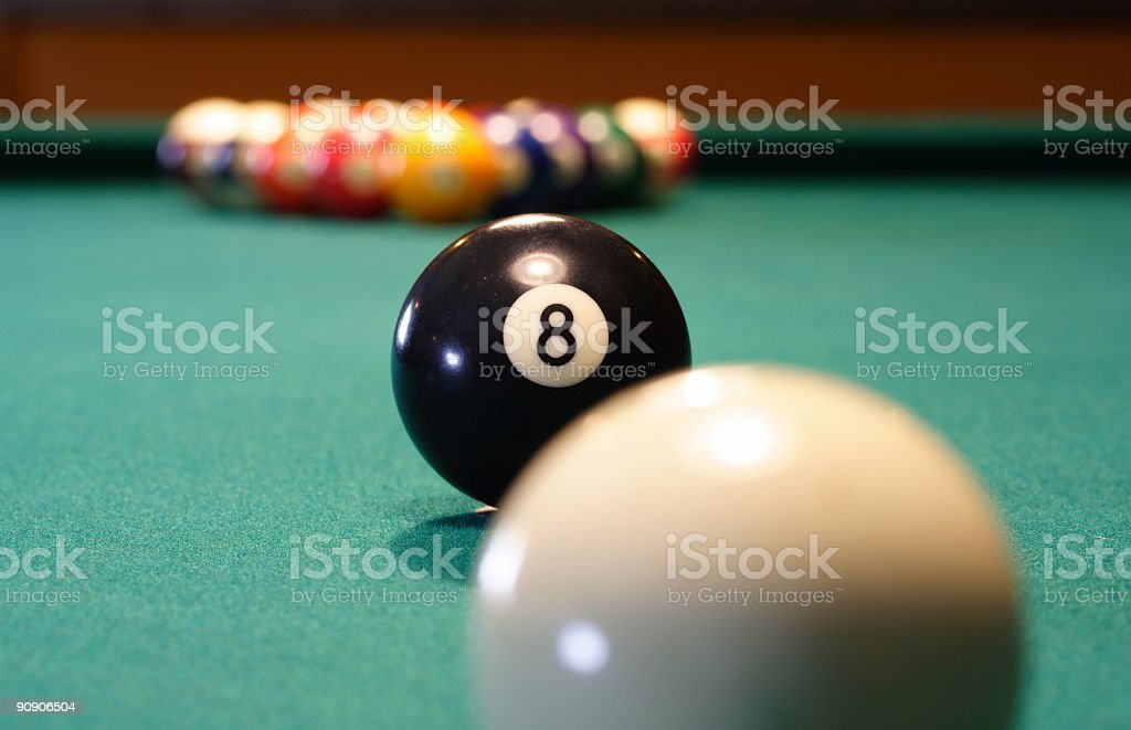 Behind The 8 Ball royalty-free stock photo