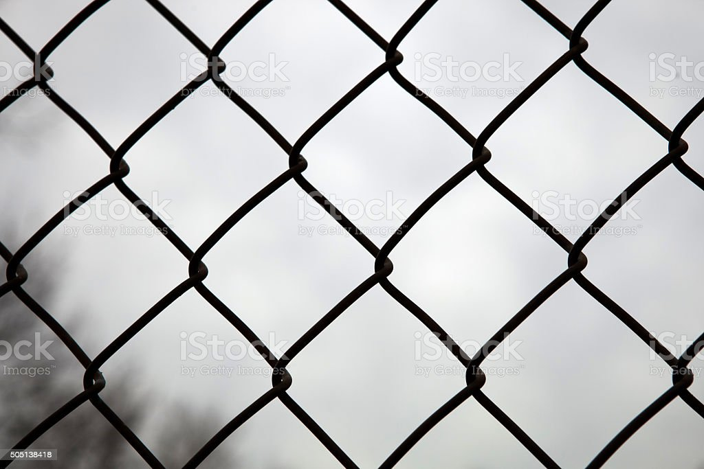 Behind the bars stock photo