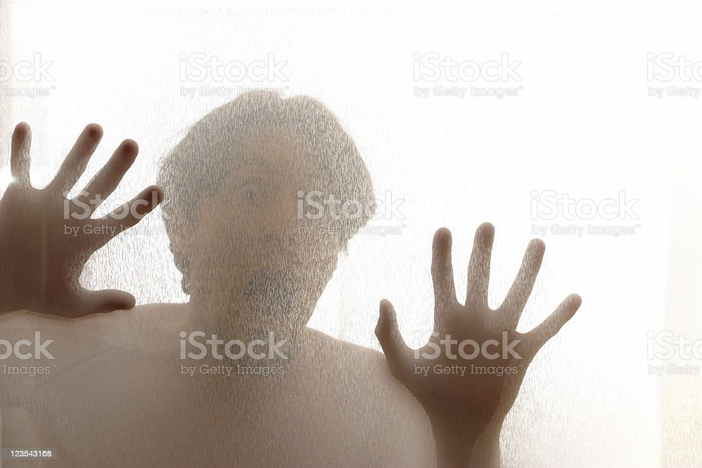Behind the curtain royalty-free stock photo
