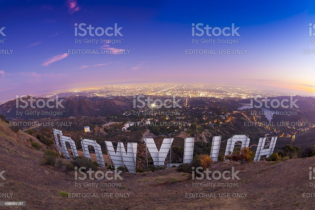 Behind the Hollywood Sign stock photo