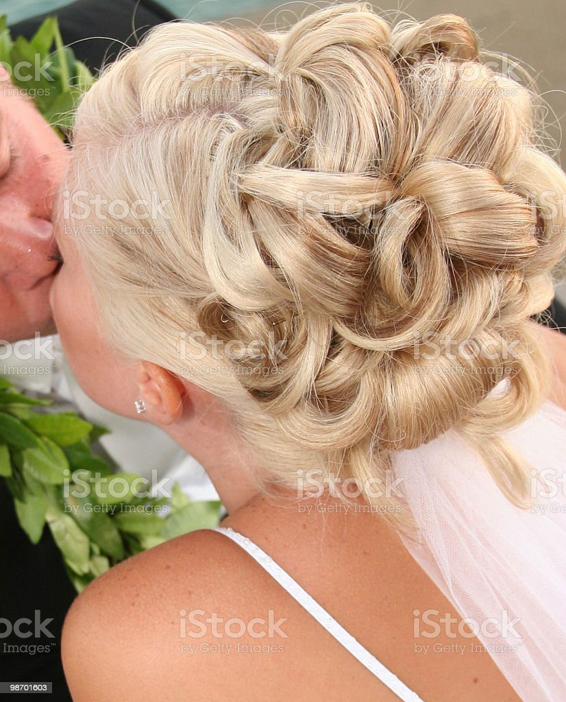 Behind the kiss royalty-free stock photo