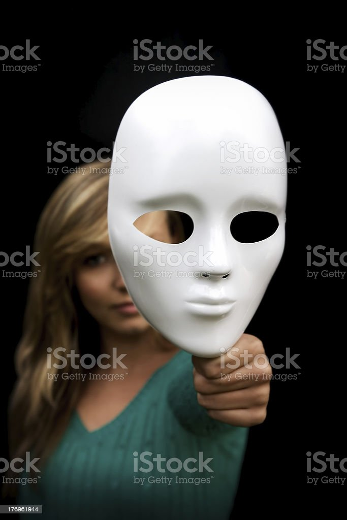 Behind the mask. royalty-free stock photo