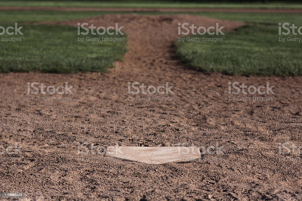Behind the Plate royalty-free stock photo