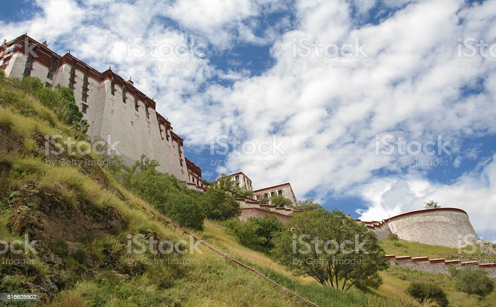 Behind The Potala Palace  in Tibet stock photo
