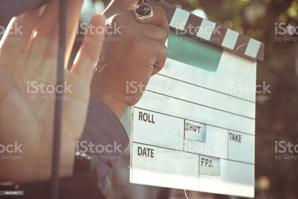 behind the scene stock photo