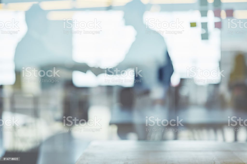 Behind the screen of corporate success stock photo
