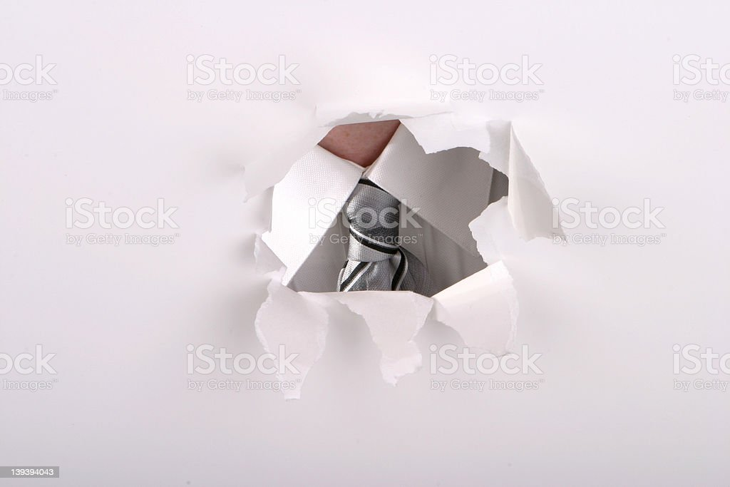Behind the Tie royalty-free stock photo