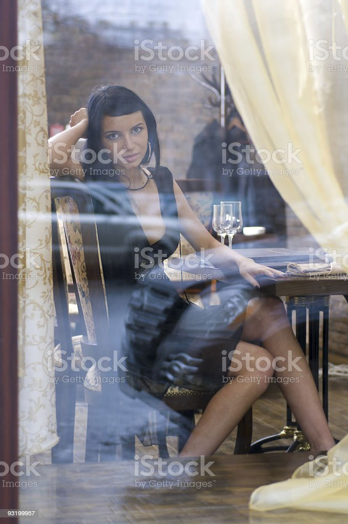 Behind the window royalty-free stock photo