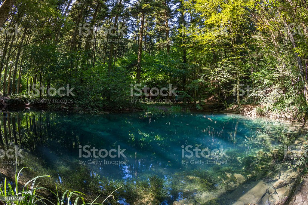 Bei lake in the Nera National Park, Romania stock photo