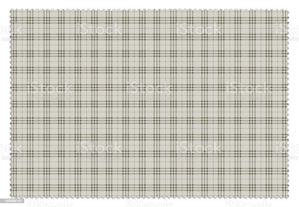Beige and Brown Gingham Tablecloth Swatch royalty-free stock photo
