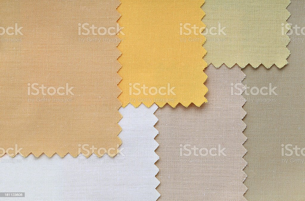 Beige and Yellow Fabric Swatch Background royalty-free stock photo