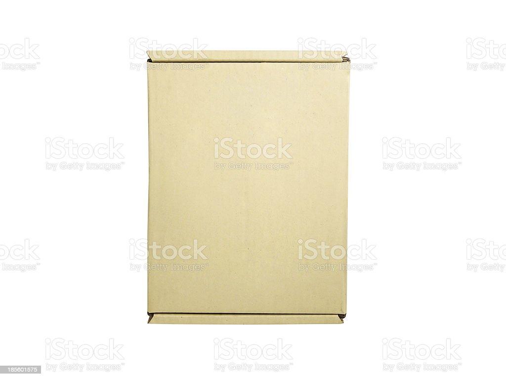 Beige box isolated royalty-free stock photo