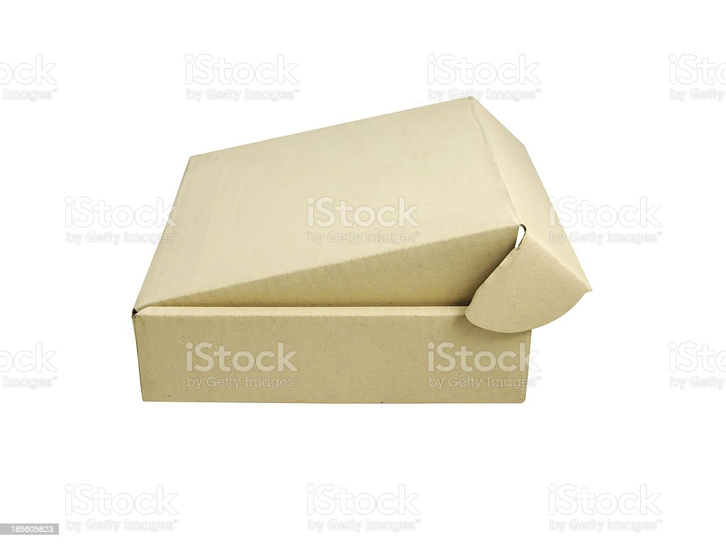 Beige box isolated royalty-free stock photo
