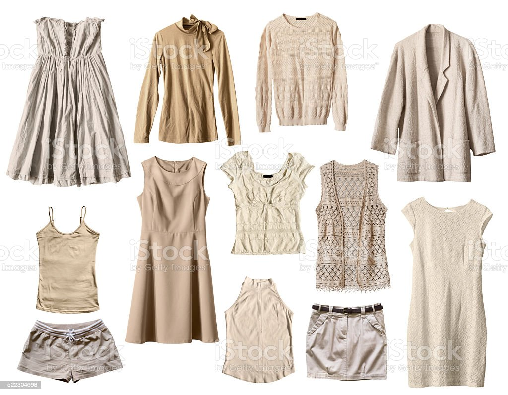 Beige clothes stock photo