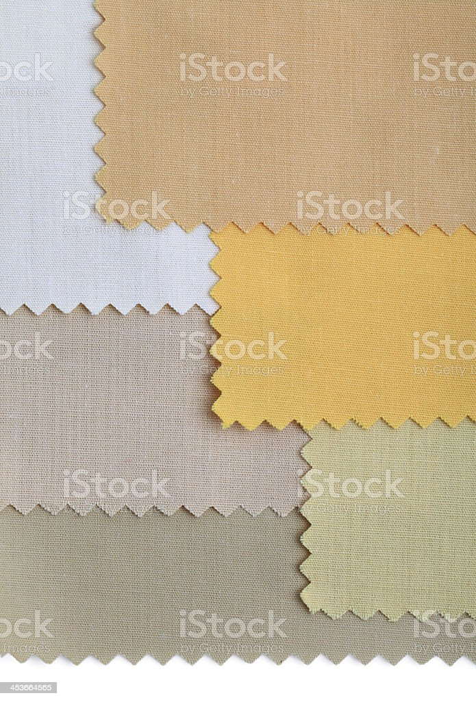 Beige Color Fabric Swatch Background royalty-free stock photo