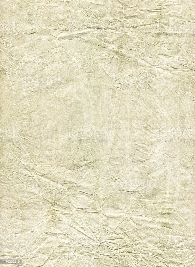 beige crumpled paper royalty-free stock photo