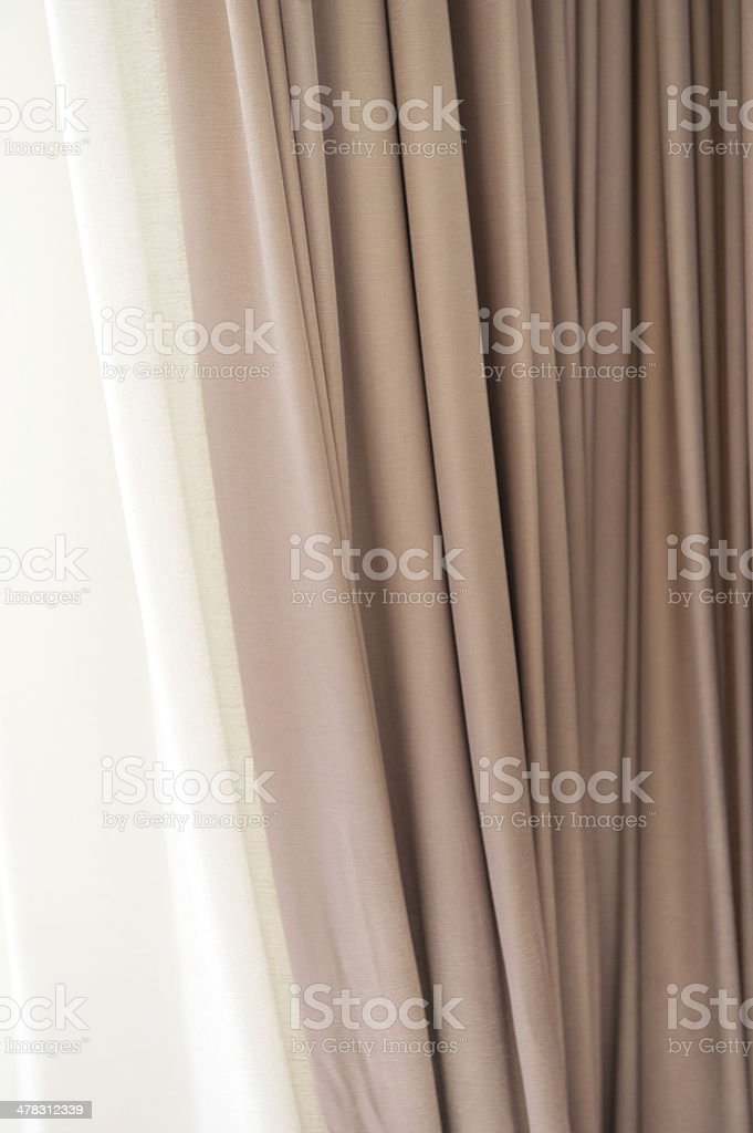Beige Curtain royalty-free stock photo