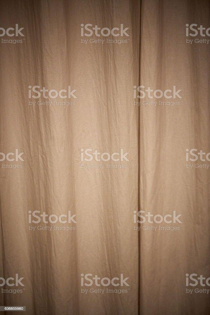 Beige Curtain stock photo