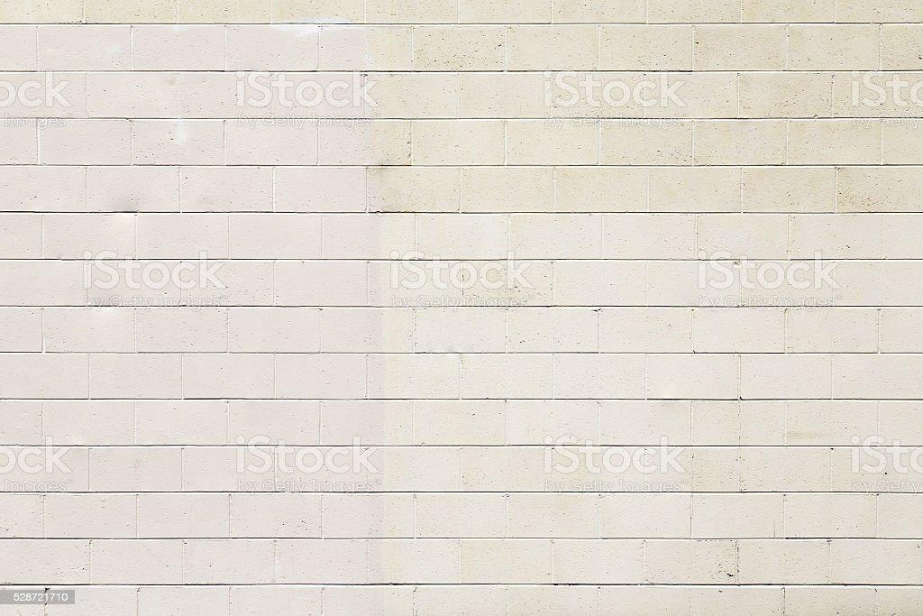 Beige Exterior Concrete Block Wall stock photo