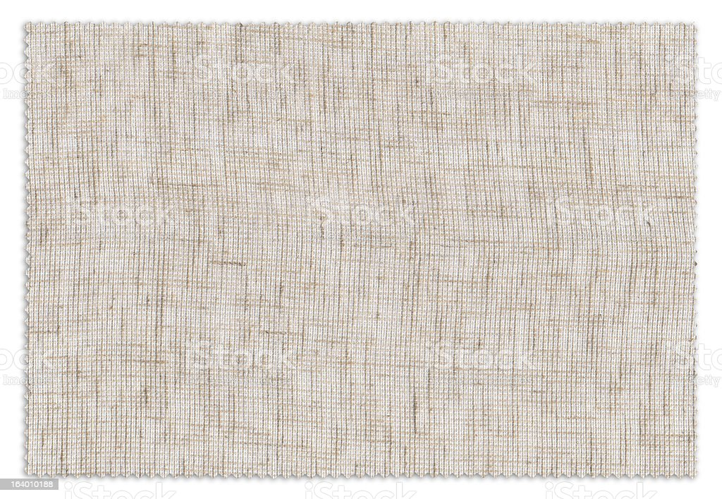 Beige Fabric Swatch royalty-free stock photo
