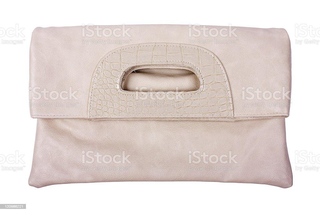 Beige female bag stock photo