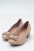 Beige high heel shoe