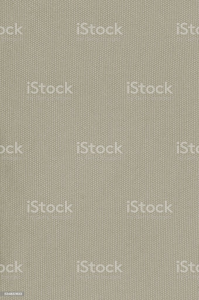 Beige Khaki Cotton Fabric Texture Background, Detailed Macro Closeup, Vertical stock photo