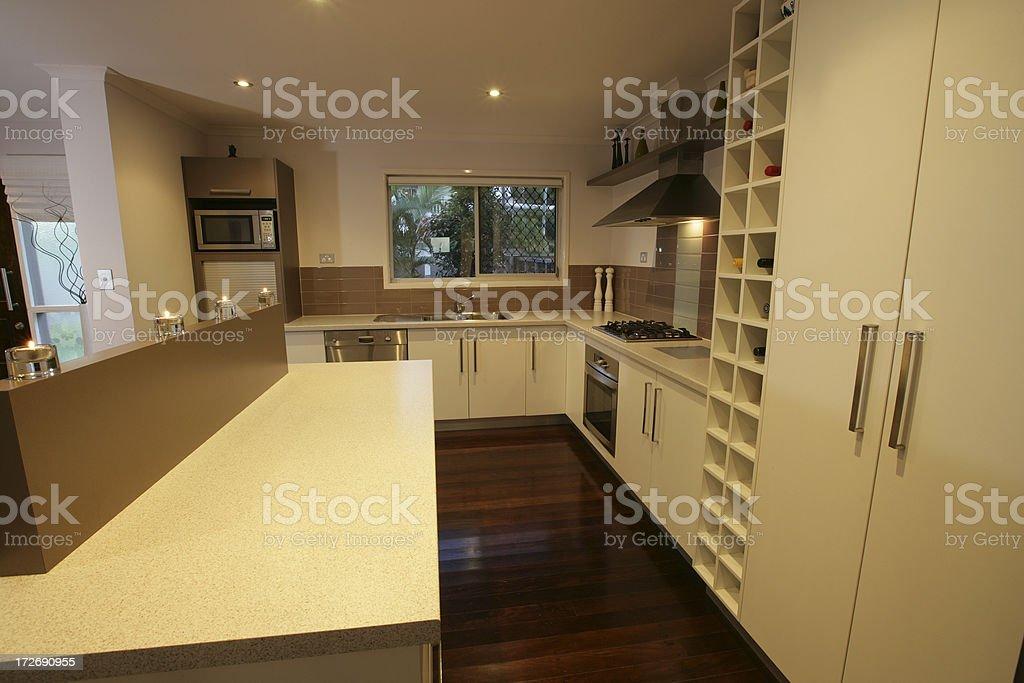 Beige Kitchen royalty-free stock photo