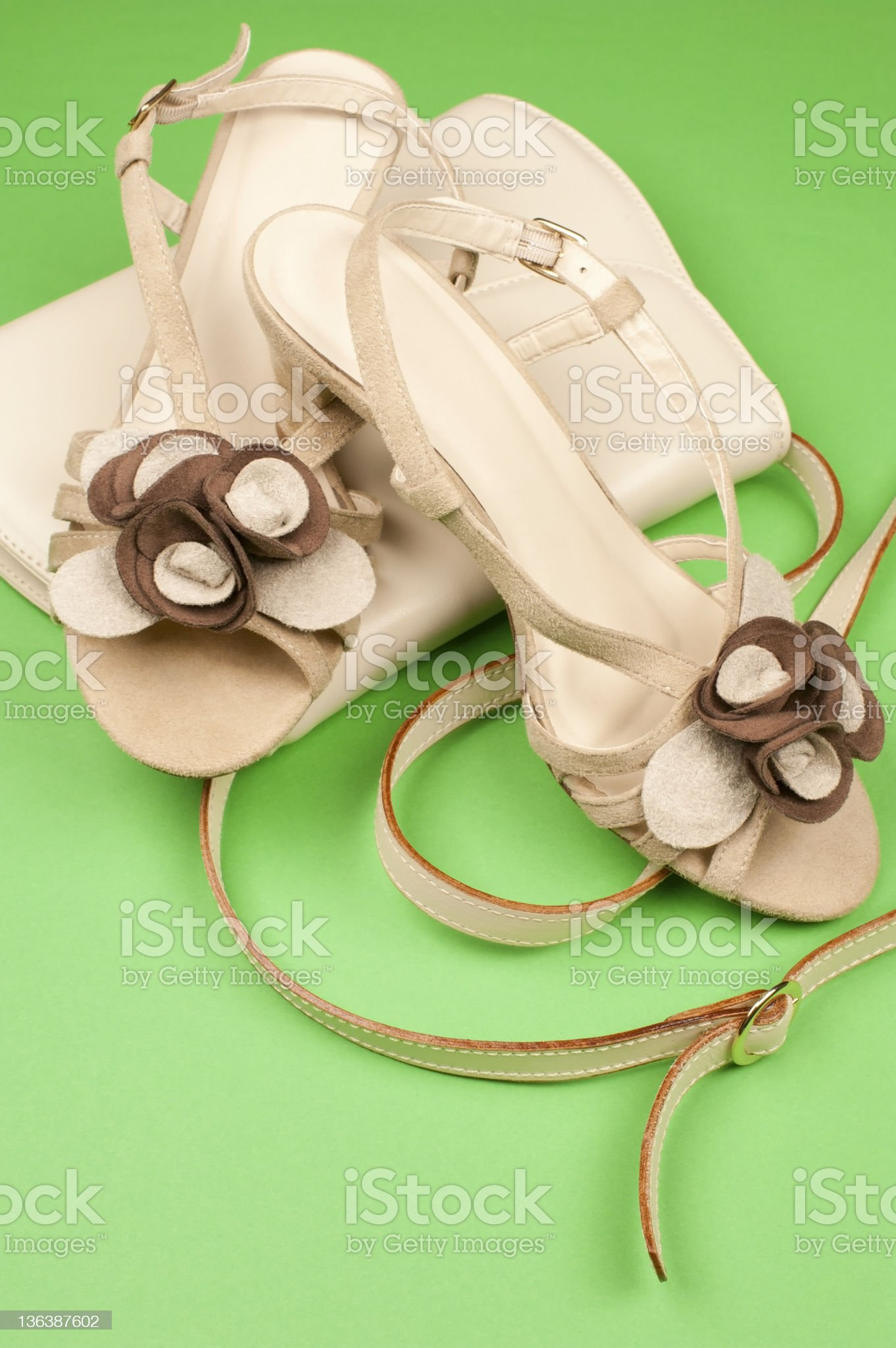 Beige Leather Accessories royalty-free stock photo