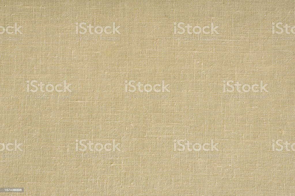 Beige linen canvas texture. stock photo