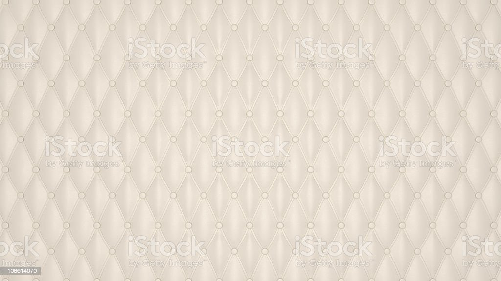 XXXL Beige Luxury buttoned leather pattern royalty-free stock photo