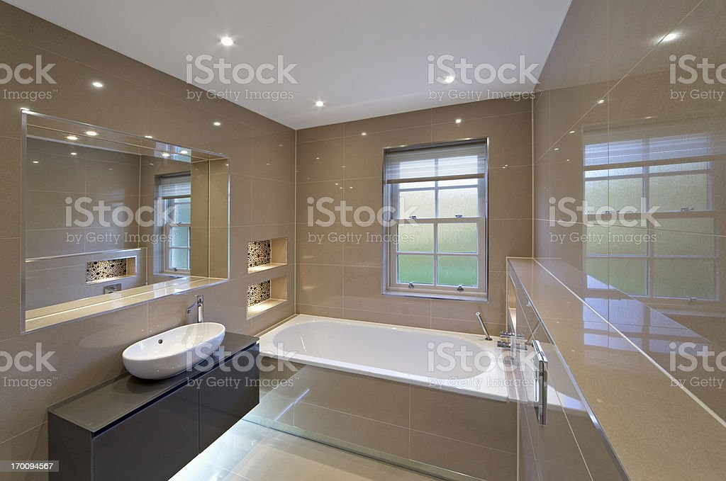 beige marble bathroom royalty-free stock photo