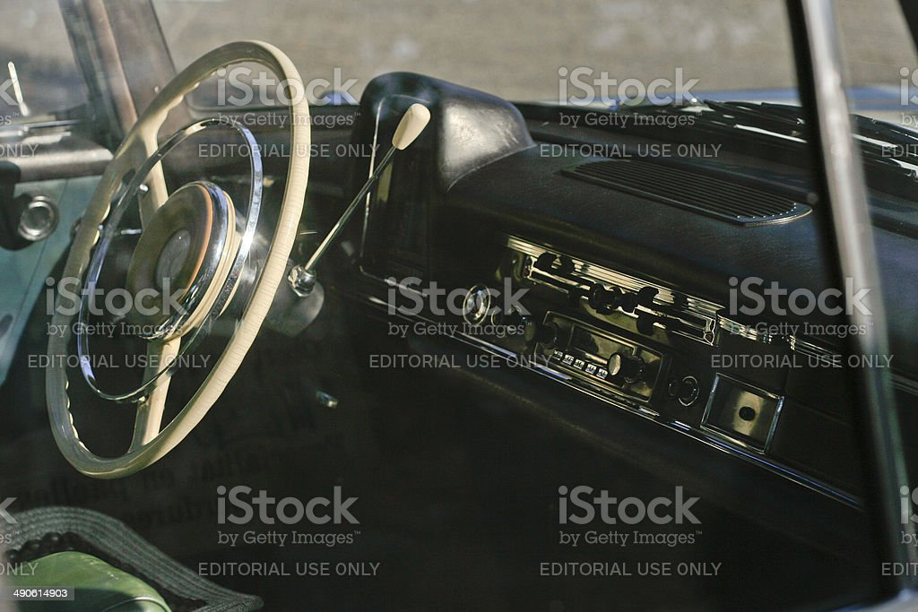 Beige Mercedes-Benz W110 royalty-free stock photo