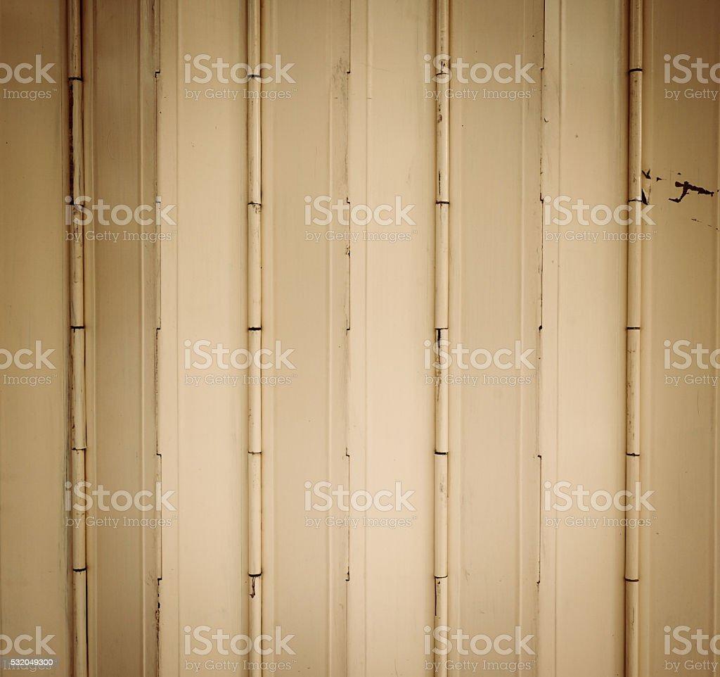 Beige metal door stock photo