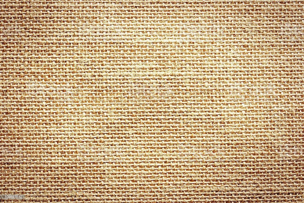Beige old sack, textured background stock photo