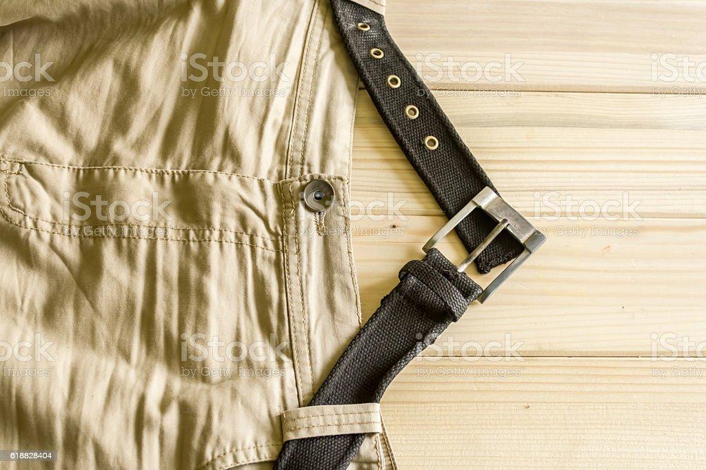 Beige pants stock photo