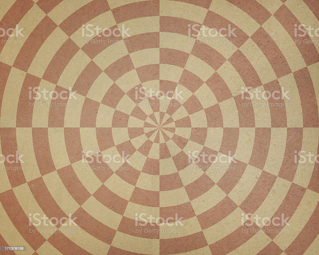 beige paper with spiral target pattern royalty-free stock photo