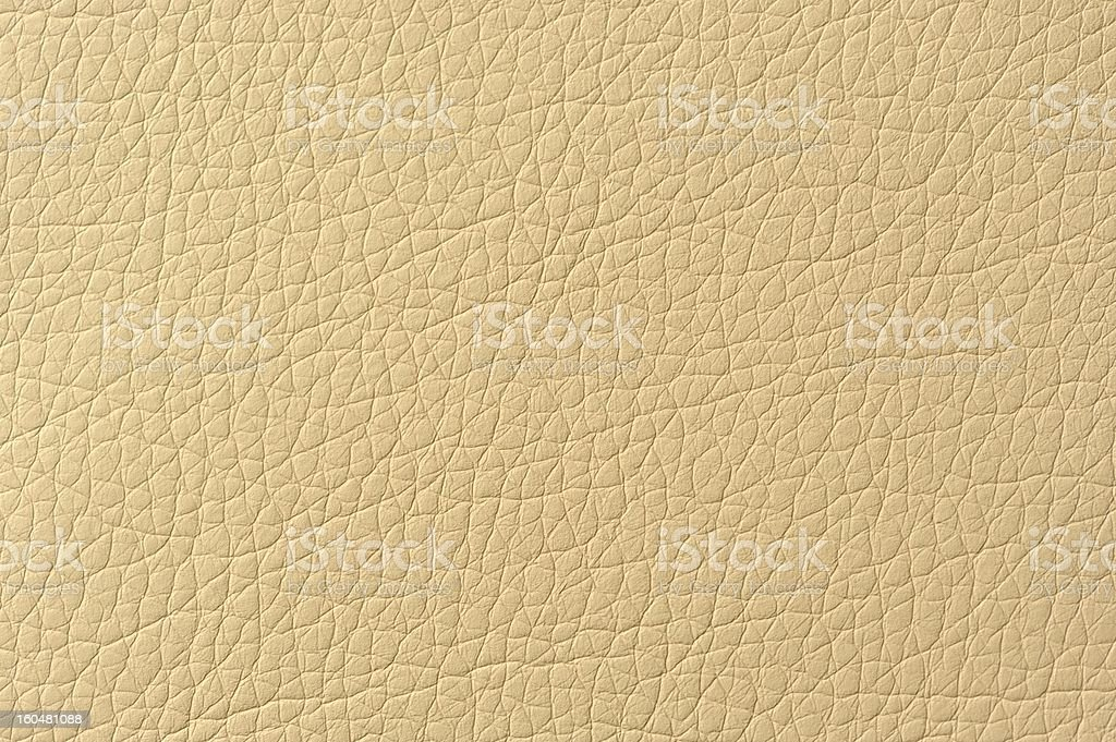 Beige Patterned Artificial Leather Texture royalty-free stock photo